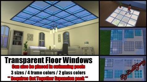 transparent floor windows  bakie  mod  sims sims