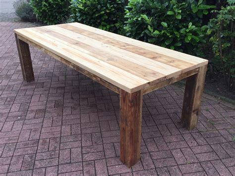 Tisch Aus Altem Holz by Gartentisch Aus Gebrauchtem Bauholz Ge 246 Lt Gartentische