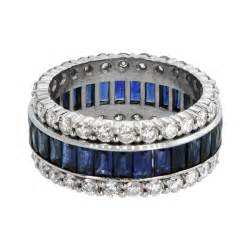 vintage sapphire and wedding band estate jewelry - Vintage Sapphire Wedding Bands