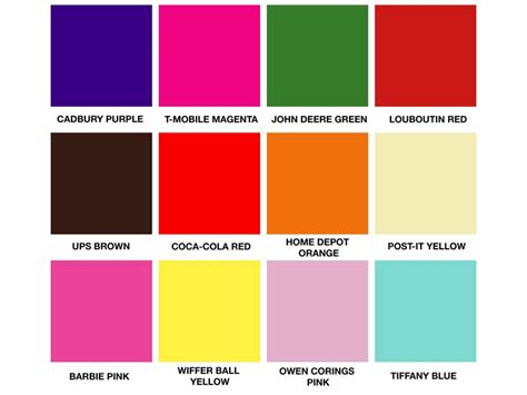 yellow purple pink blue brands continue to wage war over color the fashion law