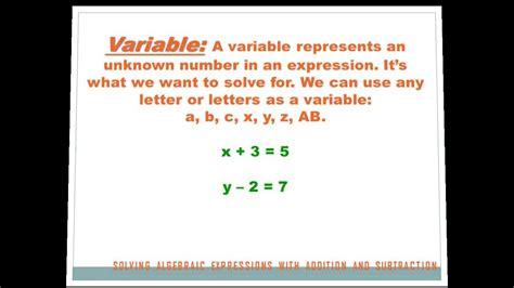 algebra solving expressions  addition
