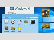 How to Bring Desktop Gadgets to Windows 10 « Windows Tips