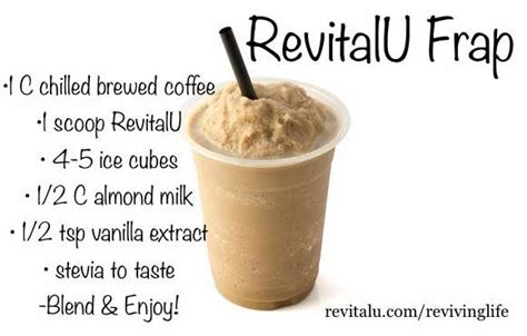 There is nothing spooky about this amazing smart brew. Revital U Frap Recipe   Coffee recipes, Ice coffee recipe, Cocoa recipes