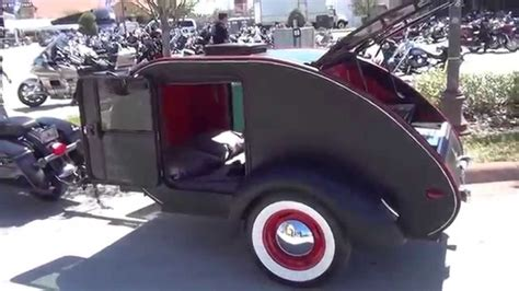 small lightweight camper trailer special   pull   motorcycle youtube
