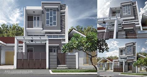 lingkar warna desain rumah minimalis dua lantai