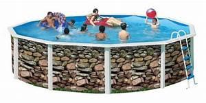 Dimension Piscine Hors Sol : piscine hors sol en acier ronde ibiza muro ~ Melissatoandfro.com Idées de Décoration