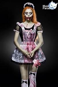 Details Zu Horror Maid Komplettset Hallowen Damen Kostm