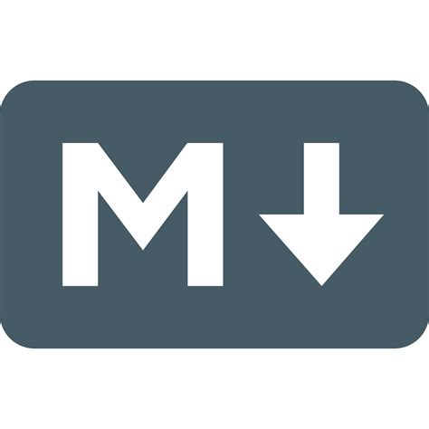 markdown color markdown icon free png and svg