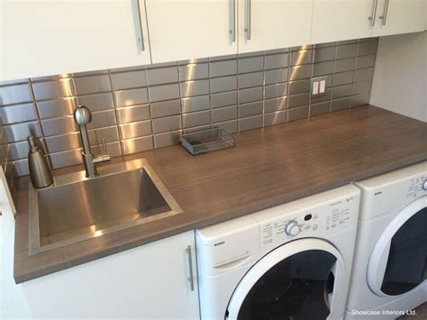 Stainless Steel Laminate Backsplash : 15 Best Images About Laundry On Pinterest