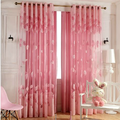 Pink Curtains by 3color New Style Fashion Tulle Sheer Curtains