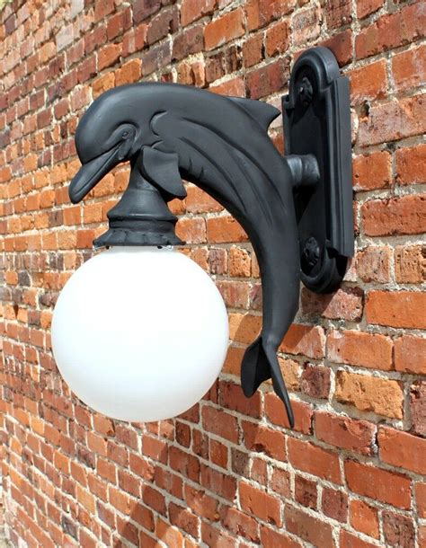 wall mount dolphin sconce indoor or outdoor light nautical sea fixture ebay