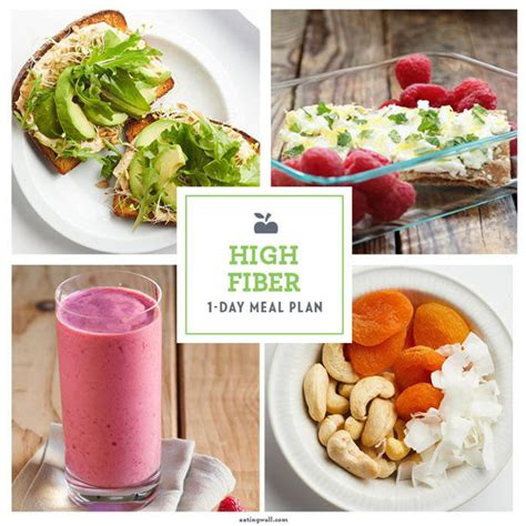 day high fiber weight loss meal plan eatingwell