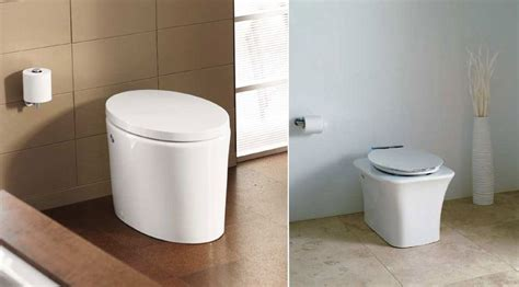 Kohler Bathroom Commodes by Left The Purist Hatbox From Kohler Tankless Toilet With
