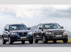 Vergleich SUV Audi Q5 20 TDI quattro gegen BMW X3