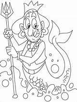 Merman Coloring Pages Centaur Mermaid Template Ugly Printable Clipart Half Horse Man Cartoon Print Popular Creatures Clip Greek Getcolorings Mythical sketch template