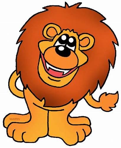 Clip Lion Animated Lions Cartoon Clipart Clipartix