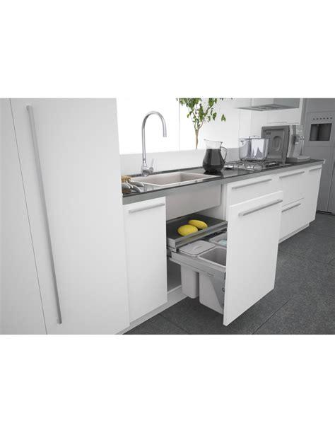Sige 600mm Under Kitchen Sink Waste Bin X3 Containers Soft