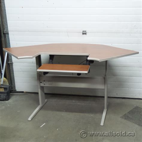used sit stand desk for sale teknion sit stand height adjustable corner desk allsold