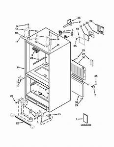 Cabinet Parts Diagram  U0026 Parts List For Model Kbfs25ecms00