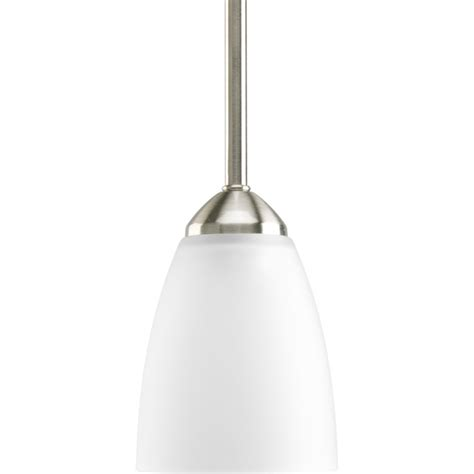 progress lighting gather collection brushed nickel 1 light