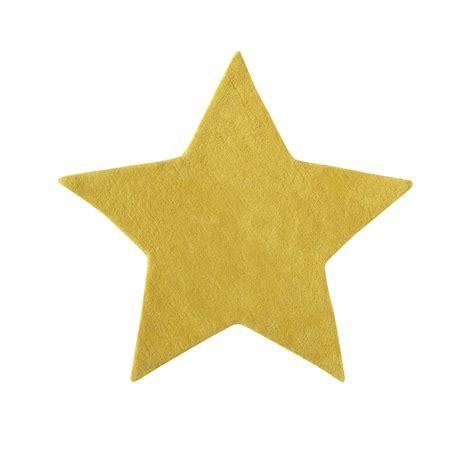 Tapis étoile Jaune by Tapis En Coton Jaune H 100 Cm 201 Toile Maisons Du Monde