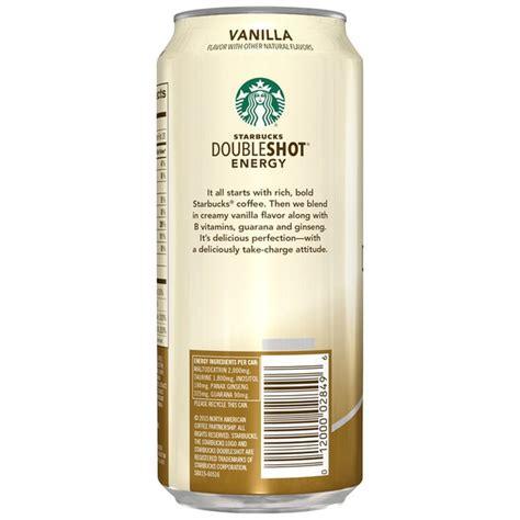 Shot espresso yang diberikan foam susu di bagian atas dengan sendok, disajikan di gelas / mug kecil. Starbucks Double Shot Energy Vanilla Fortified Energy ...