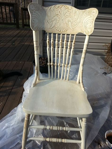 milk paint restyled pressed back chair furniture