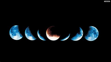 Moon Phases Background Moon Desktop Wallpaper