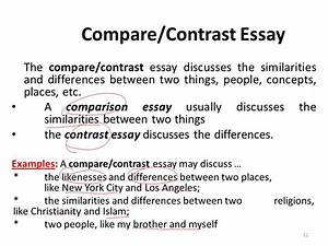 two things to compare and contrast