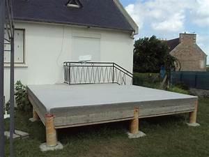 prix terrasse suspendue beton evtod With prix terrasse sur pilotis en beton