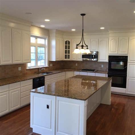 oak cabinets  white dove complete cabinet refinishing