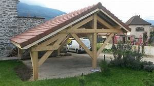 Abri Voiture En Bois : abris voiture projet bois entreprise de charpente ~ Nature-et-papiers.com Idées de Décoration
