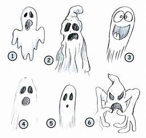Drawing a cartoon ghost