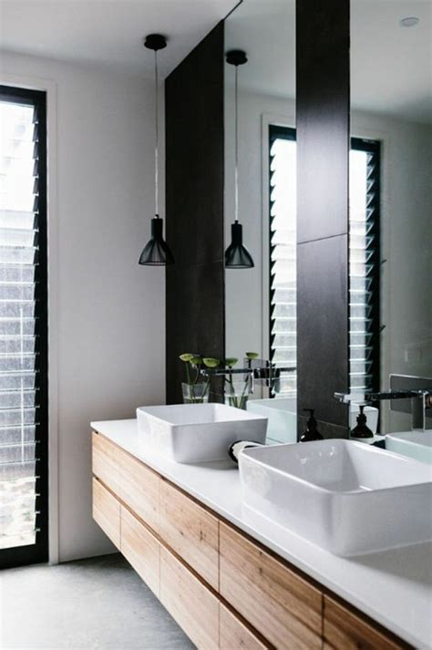 meuble salle de bain bois   de style rustique