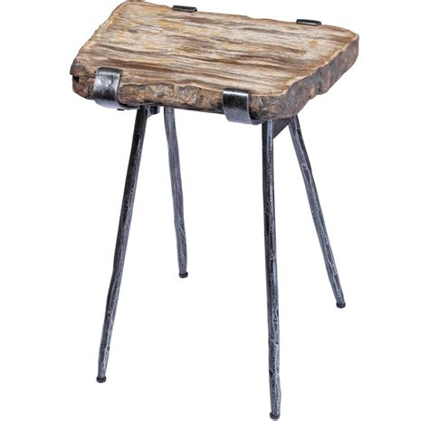wood slab side table petrified wood slab accent table santa barbara design center