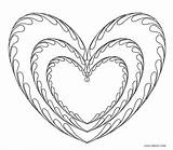 Coloring Pages Heart Hearts Printable Cool2bkids sketch template