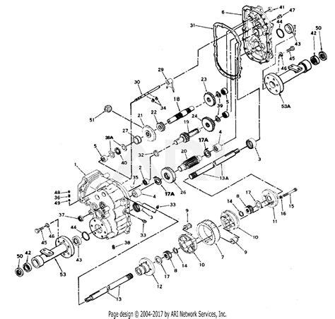 mtd    gt   parts diagram  transaxle