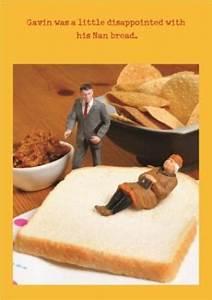 Make Your Invitations Nan Bread Funny Joke Personalised Happy Birthday Card