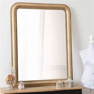celeste mirror gold 120x90 maisons du monde With miroir 120x90