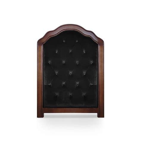 canape chesterfield noir tête de lit capitonnée 90cm velours noir pas cher