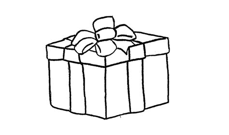 how to draw a christmas present gift box youtube