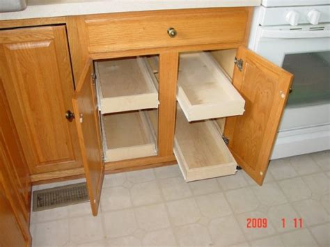 Sliding Drawers For Cabinets by Sliding Cabinet Draws Woodworking Talk Woodworkers Forum