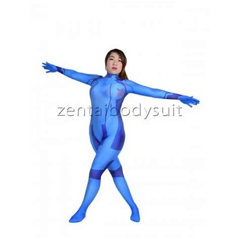 Zero Suit Samus Spandex Cosplay Superhero Costume