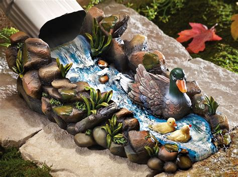 Decorative Gutter Downspout Extensions by Northwoods Garden Duck Family Downspout Splashguard
