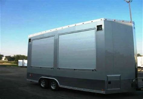 custom built concession marketing trailer wroll doors advantage trailer