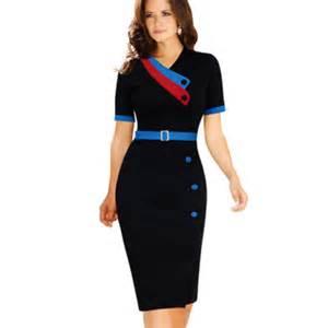 modele de robe de bureau lowest price on 2016 womens chic business suits formal office suits work navy style