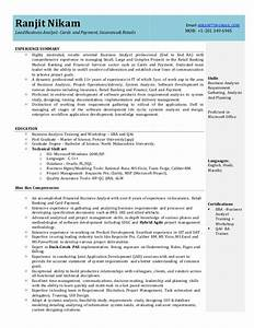 business analyst resume With insurance business analyst resume sample