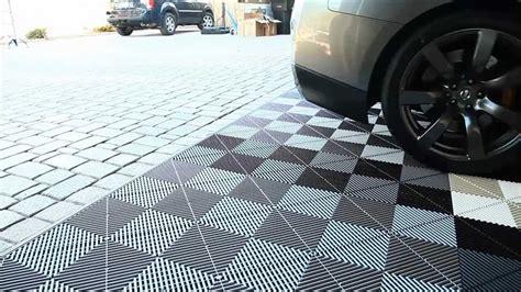 prefab flooring garage flooring inc installs vented xl modular flooring tiles youtube
