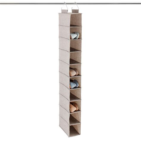 Grey 10compartment Hanging Shoe Organizer  The Container