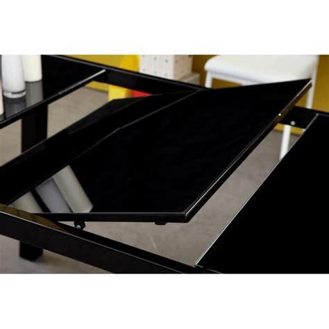 roma table extensible 120 180cm verre noir achat vente table salle a manger pas cher couleur